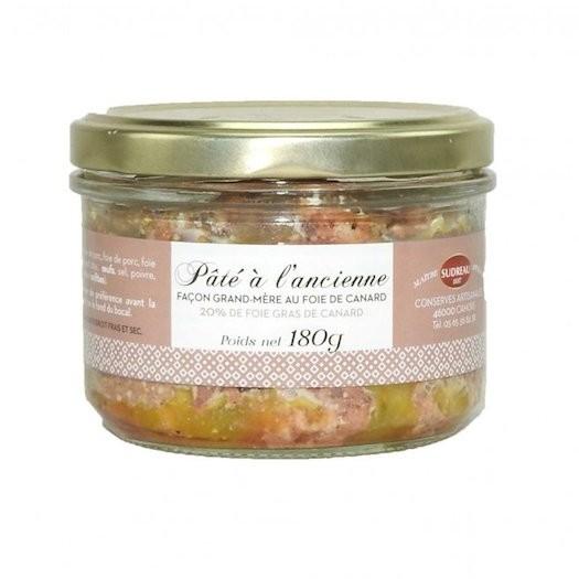 Pâté à l'ancienne Façon Grand-Mère 20% Foie Gras de Canard Terrines, pâtés et rillettes