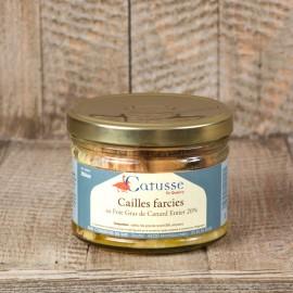 Cailles farcies au Foie Gras de Canard Entier 20%